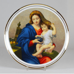 "Decorative plate ""Madonna with grapes"""