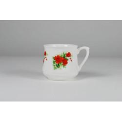 Kubek śląski (mały) - dekoracja czerwone różyczki