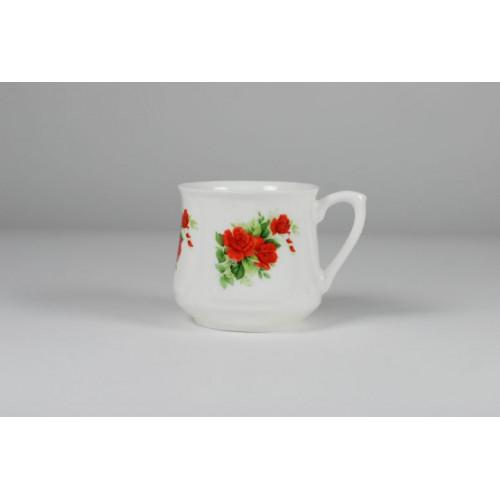Silesian mug - decoration red roses