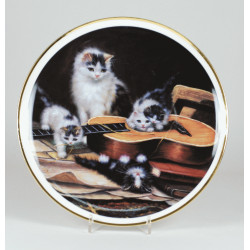 "Decorative plate ""Cats ith guitar"""