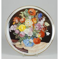 """Patera """"Bukiet kwiatów ze beżowym szalem"""""""