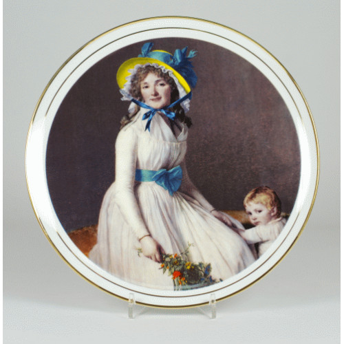 "Decorative plate ""Portrait of a woman with child"""