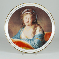 "Decorative plate ""Portrait of Princess Skowronska"""