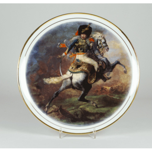 "Decorative plate ""Chasseurs officer"""