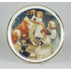 "Decorative plate ""Children with Bernardine"""
