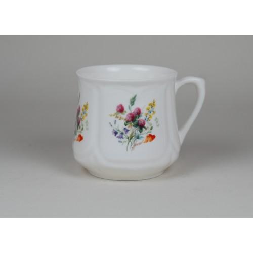 Kubek śląski (mały) - dekoracja kwiaty polne z koniczyną