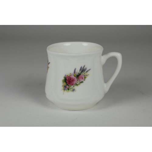 Silesian mug (small) - decoration rose with lavender