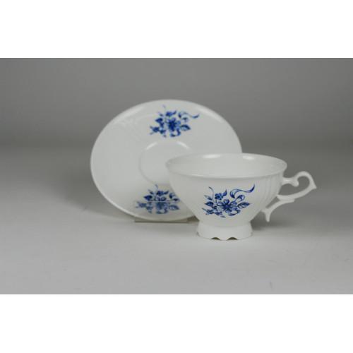 Cmielow cup - decoration blue flowers