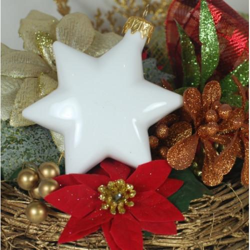 Porcelain star (white)