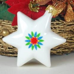 Gwiazdka porcelanowa (biała)