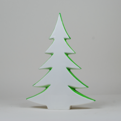 Porcelain Christmas tree - hand painted