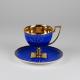 Filiżanka Matylda herbata - szafir ze złotem