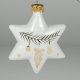Porcelain star (with gold)