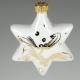 Gwiazdka porcelanowa (złota)