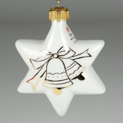 Porcelain star - hand-paited with gold