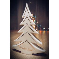 Porcelain Christmas tree - hand painted with gold