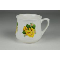 Silesian mug (small) - decoration Primulas