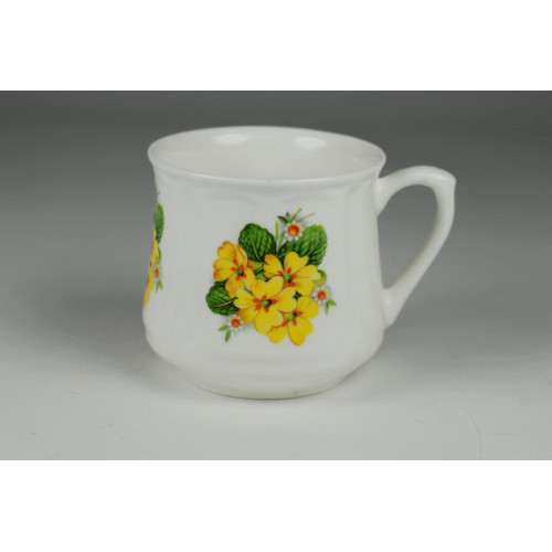 Silesian mug (small) - decoration Primulas
