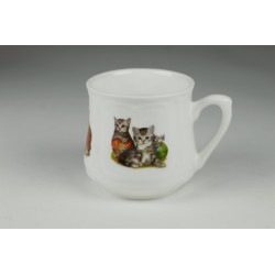 Kubek śląski (mały) - Dwa kotki z włóczką