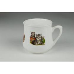 Silesian mug (small) - Two cats with yarn