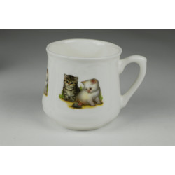 Silesian mug (small) - Cats with mouse