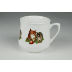 Silesian mug (small) - Cats with ball
