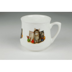 Silesian mug (small) - Three Cats with yarn