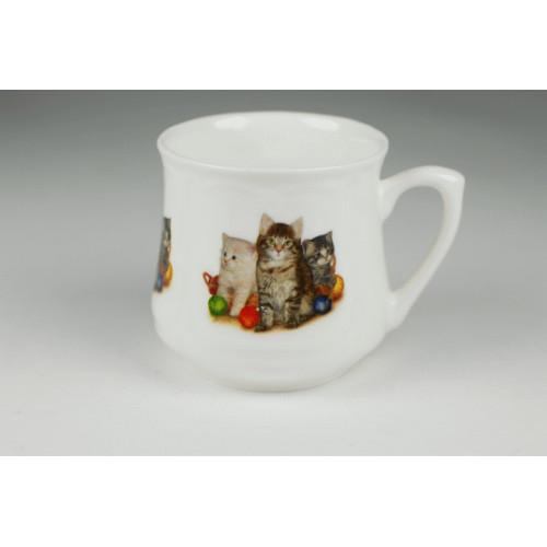 Kubek śląski (mały) - Trzy kotki z włóczką