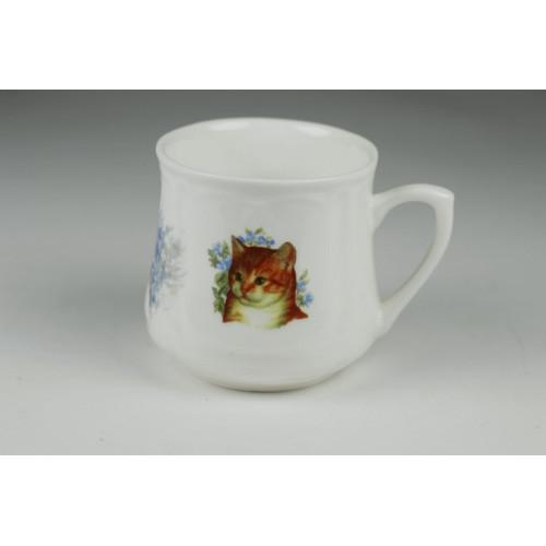 Silesian mug (small) - Three Cats with yarn