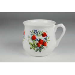 Silesian mug - decoration strawberry