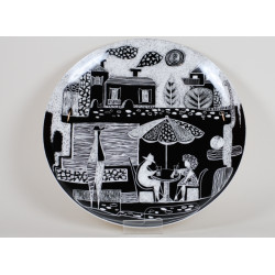 "Decorative plate ""Cafeteria"" no. 1"