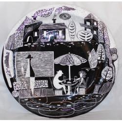 "Decorative plate (big size) ""Cafeteria  no 1"""