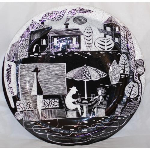 "Decorative plate (big size) ""Cafeteria no 1"