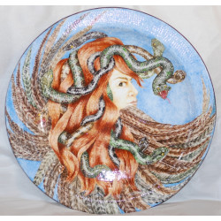 "Decorative plate (big size) ""Medusa"""