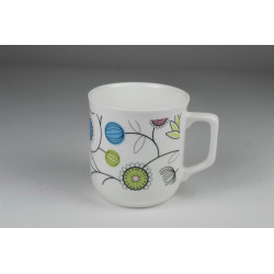 Kubek Ćmielowski - dekoracja Graficzne kwiaty