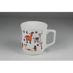 Cmielow mug - decoration Llamas