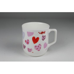 Cmielow mug - decoration Hearts