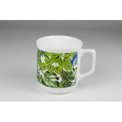 Cmielow mug - decoration Green leaves