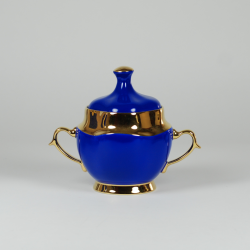 Anna Maria  sugar-bowl (saphire with gold)