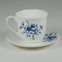 Lotos cup - decoration Blue flowers