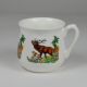 Silesian mug - decoration deer