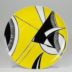 "Patera ""Ryba Skalar"" - dekoracja żółto-czarna"