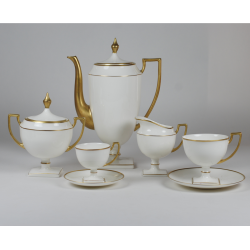 Coffee and tea set MATYLDA - with gold