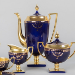 Pot MATYLDA - cobalt with gold