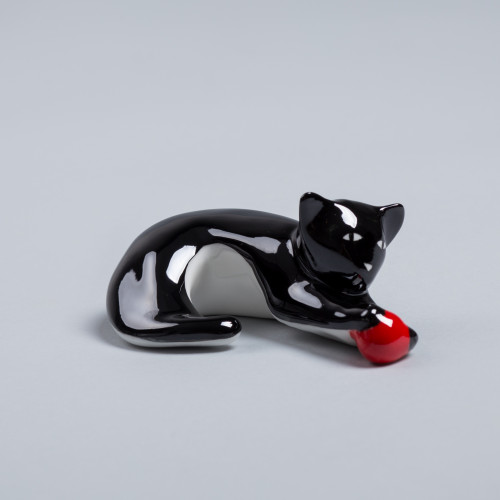 Kitten with red ball