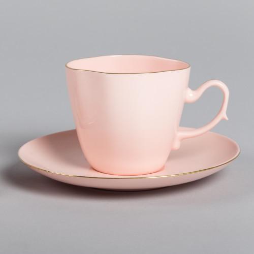 Filiżanka ANNA MARIA kawa/herbata (różowa porcelana)