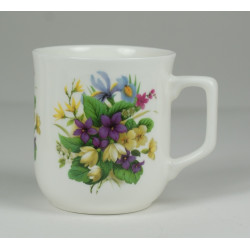 Cmielow mug - decoration Bouquet of Violets