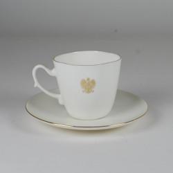 Filiżanka Anna Maria kawa/herbata ze złotym orłem