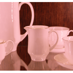 Mlecznik JUNE złoty pasek (różowa porcelana)