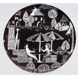 """Decorative plate """"Cafeteria"""" no. 4"""